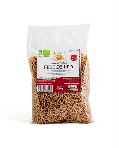 FIDEO Nº 5 INTEGRAL DE TRIGO ECO 500 Gr. VEGETALIA