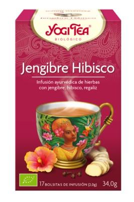 YOGI TEA - JENGIBRE HIBISCO BIO