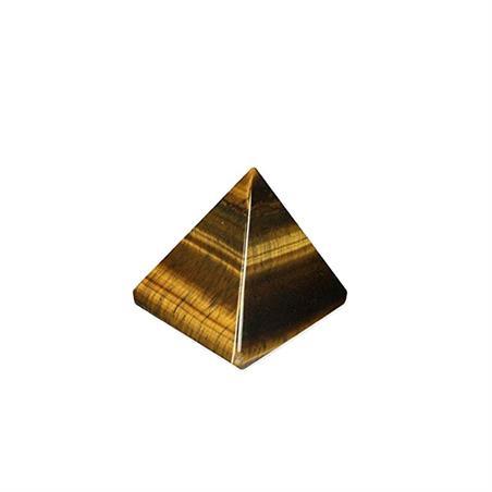PIRAMIDE OJO DE TIGRE  3.5 X 3.5 cm