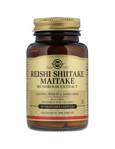 REISHI, SHIITAKE y MAITAKE 50 Comp. SOLGAR