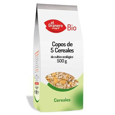 5 CEREALES COPOS ECOLOGICOS 500 Gr. EL GRANERO INTEGRAL