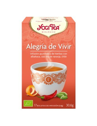 YOGY TEA - ALEGRIA DE VIVIR 17 Bolsitas 30.6 Gr.