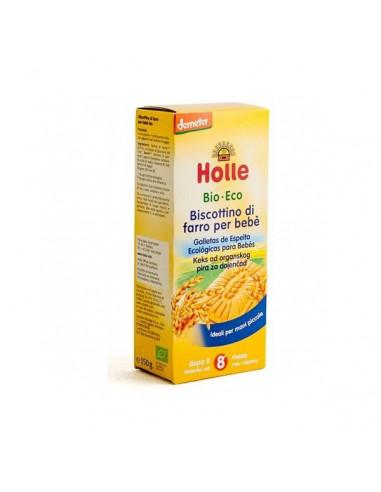 GALLETAS ESPELTA ECO PARA BEBES 8 MESES 150 Gr. HOLLE