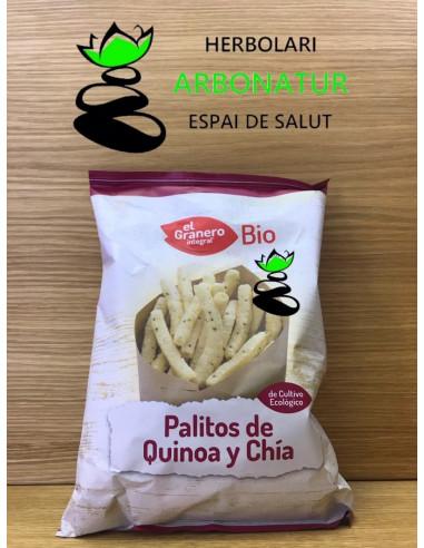 PALITOS DE QUINOA Y CHIA 75 Gr. EL GRANERO INTEGRAL