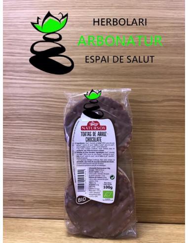 TORTAS DE ARROZ CON CHOCOLATE CON...