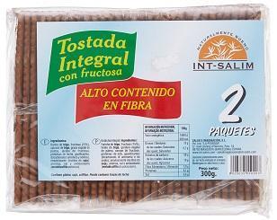 GALLETAS INTEGRALES DE TRIGO - CON FRUCTOSA - 300 Gr.