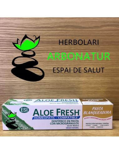 ALOE FRESH PASTA BLANQUEADOR  100 ml. (compatible con homeopatia) ESI