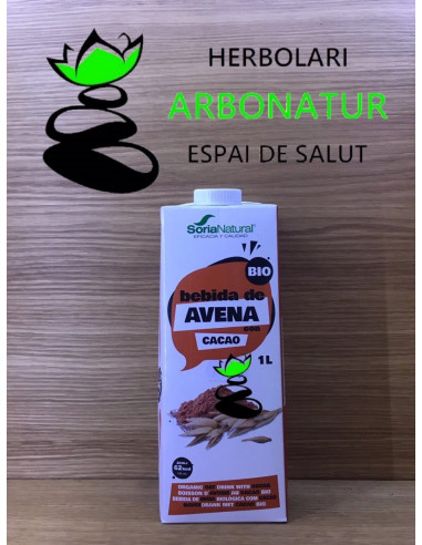 BEBIDA DE AVENA Y CACAO ECO  1 Lt.  SORIA NATURAL