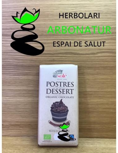 CHOCOLATE PARA POSTRES FUNDIR  ECO  - SIN GLUTEN - 200 Gr. SOLÉ