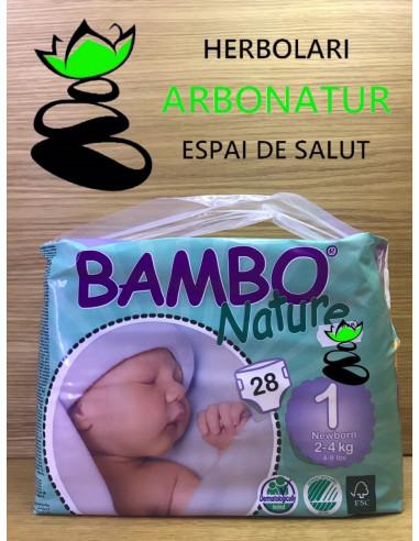 PAÑALES BAMBU NATURE RECIEN NACIDO 2-4 Kg.