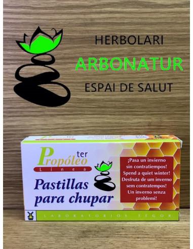 PROPÓLEO TER PASTILLAS PARA CHUPAR  30 Com. de 600 mg.  TEGOR